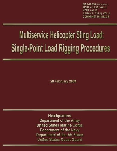 Multiservice Helicopter Sling Load: Single-Point Load Rigging Procedures: Field Manual 4-20.198 (FM 10-450-4)/MCRP 4-11.3E, VOL II/NTTP 3-04.12/ AFMAN 11-223 (I), VOL II/COMDTINST M13482.3B por U.S. Government Department of the Army
