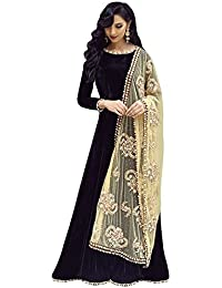 Insight Ecommerce Women Women's Gown Latest Party Wear Designer Georgette Embroidery Semi Stitched Free Size Salwar...