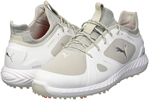 Puma Men s Ignite Pwradapt Wide Golf Shoe  White-Gray Violet  13 W US