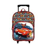 Sac A Dos A roulettes 1 Compartiment Noir Rouge-Cars Disney MacQueen