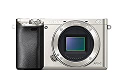 "Sony Alpha 6000 Systemkamera (24 Megapixel, 7,6 cm (3"") LCD-Display, Exmor APS-C Sensor, Full-HD, High Speed Hybrid AF) silber"
