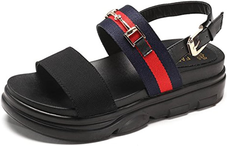 LGK&FA Sandalias Zapatos De Mujer Velcro Sandalias Sandalias 38 Azul