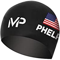 MP Michael Phelps USA Limited Edition Race Gorra, Hombre, Negro, Medium