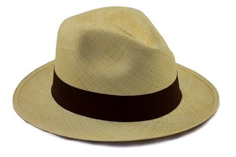 Chapeau Panama Traditionnel. Roulable et tissé. Paille naturelle. Gamme de couleurs. Extrêmement léger et