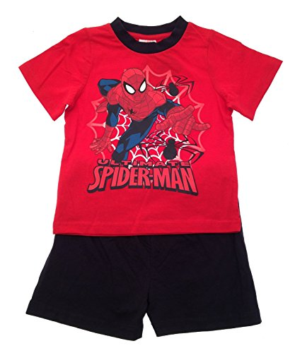 Kids Boys Pyjamas Marvel Ultimate Spiderman Short Pjs Pyjama Set Superhero Size UK 3 to 10 Years
