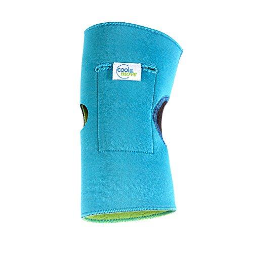 cool&move Knie Bandage M, inkl. Kalt- / Warm-Kompressen, bei Sportverletzung und Gelenkschmerz