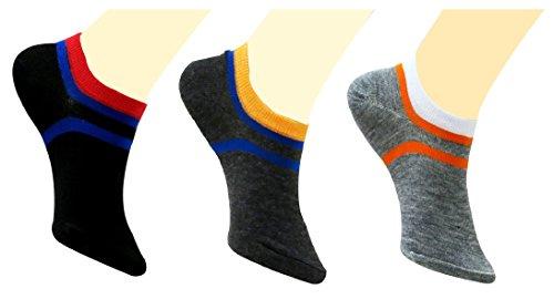 Neska Moda Premium Men's & Women's Cotton Blue,Orange 3 Pair Loafer Socks  available at amazon for Rs.199
