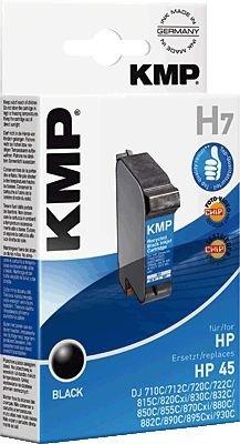 KMP H7 Tintenpatrone schwarz kompatibel mit HP 51645 A - 1315 Tintenstrahl