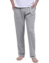 Aibrou Pantalon Bas de Pyjama Homme Vêtements de Nuit Pantalon de Pyjama  Homme pour Tous Les 63e0990b23c