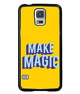 FUSON Designer Back Case Cover for Samsung Galaxy S5 :: Samsung Galaxy S5 G900I :: Samsung Galaxy S5 G900A G900F G900I G900M G900T G900W8 G900K (Wand Magically Make Differnece To Others Life )