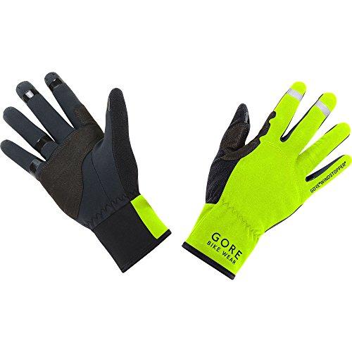 GORE WEAR Herren Universal Windstopper Handschuhe, Neon Gelb/Schwarz, 8