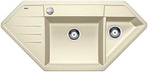 Preisvergleich Produktbild Blanco LEXA 9 E, Küchenspüle, Granitspüle aus Silgranit PuraDur, 1 Stück, jasmin, 515099
