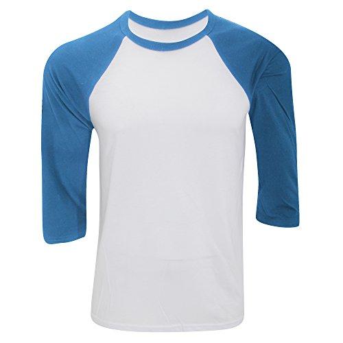 Bella CanvasDamen T-Shirt Weiß/Dunkelgrau meliert