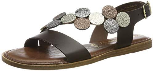 Tamaris 1-1-28139-22, sandali con cinturino alla caviglia donna, marrone (mocca comb 308), 37 eu