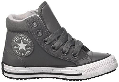 Converse Ctas Hi Pc Leather, Baskets Hautes Mixte Enfant Grigio (Thunder/Black/White)