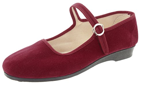 MIK Funshopping - Shoes with cotton buckle for women, red color, size 39