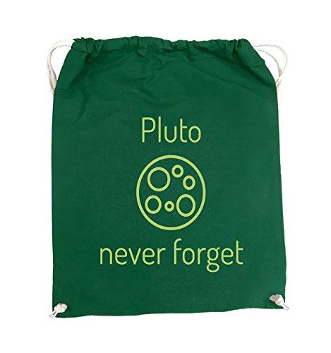 Pink never forget Schwarz Grün 37x46cm Farbe Comedy Turnbeutel Grün Bags Pluto xaqB8wnEg6