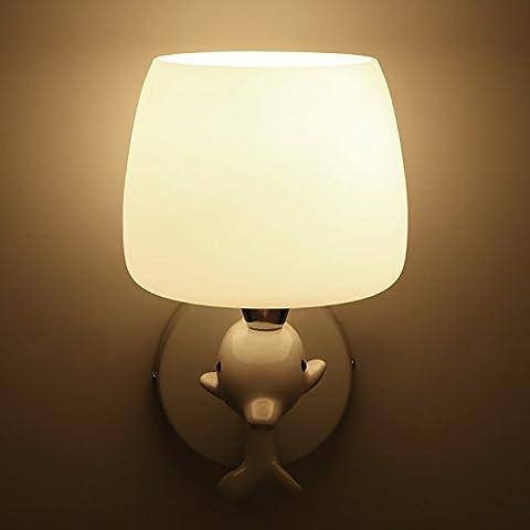 XHY Dolphin lámpara de pared Pared de vidrio, luces, doble calidad headHigh decoración de Navidad Regalo duradero
