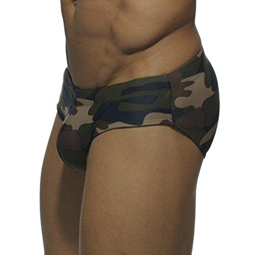 GenialES Homme Slip de Bain Maillot de Bain Short de Bain pour Plage Natation Plongée Sèche Vite Camouflage camouflage