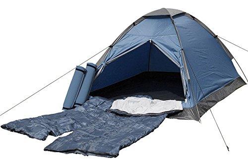 Festival- und Starter-Set für 2 Personen Kuppelzelt mit Schlafsack und Isomatten