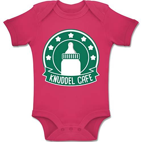 Shirtracer Karneval und Fasching Baby - Knuddle Cafe Karneval Kostüm - 12-18 Monate - Fuchsia - BZ10 - Baby Body Kurzarm Jungen Mädchen (Kid Kostüme Besten 2019)