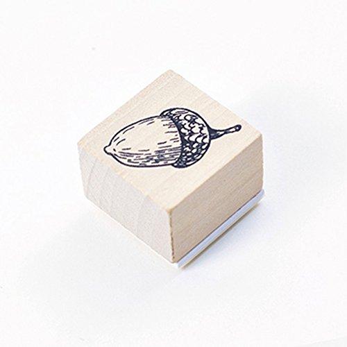 LanLan Notizbuch DIY Stempel Niedlichen Wald Thema Holz Stempel f¨¹r Scrapbooking Schreibwaren DIY Handwerk eichel