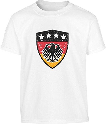 Für die kleinsten Deutschland Fans WM 2018 Kleinkind Kinder T-Shirt - Gr. 86-128 2T Weiß (Kleinkind Fan T-shirt)