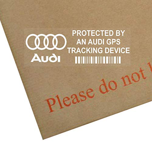 5 x AUDI GPS/GPRS-Ortung Sicherheit Fenstertattoo 87 x 30 mm, R8, A4, TT, A8, A3, A5, S5, RS RS 4, 6, S4, A6, Auto, Van, Alarm, Tracker Platinum Gps