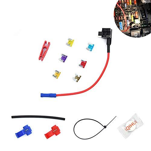 RONSHIN Mini 12 V Auto-Adapter Flachsicherungshalter, GPS-Navigator, Zigarettenanzünder, zusätzliche Werkzeug-Kits Gps-navigator Kit
