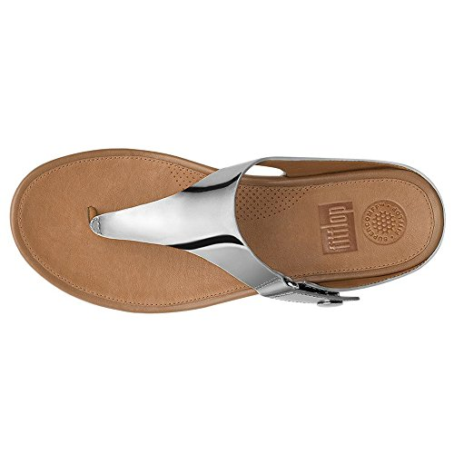 Fitflop Zehenstegsandale Gladdie Toe Post Metallic Rose Gold Metallic Silver
