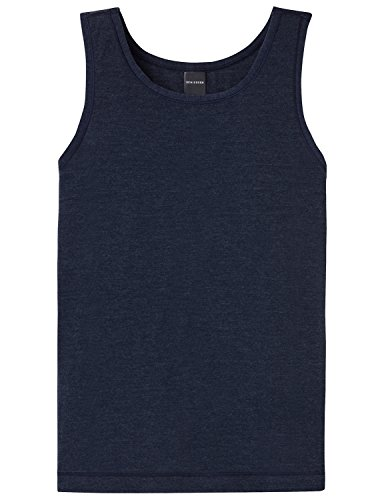 Schiesser Jungen Personal Fit Tank Unterhemd, Blau (Nachtblau 804), 140 (Herstellergröße: XS) -