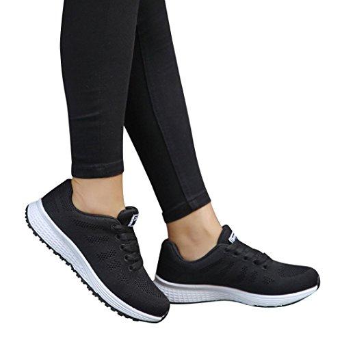 Scarpe Estive Donna,Scarpe Eleganti,Scarpe Sneaker,Scarpe Sportive,Yanhoo® Donne Maglie Casual Mocassini Traspirante Scarpe Piatte Scarpa Morbida Scarpe Da Ginnastica (39=Asia 40, Nero1)