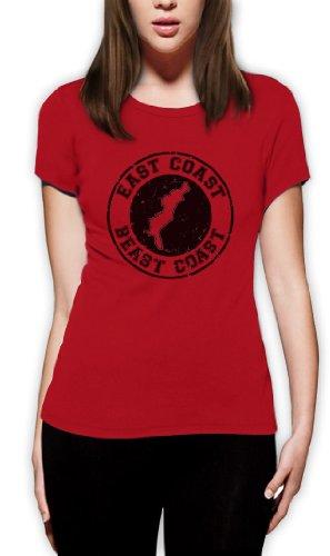East Coast Beast Coast Frauen T-Shirt Rot
