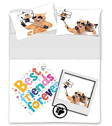 Bettwäsche und Bettdecke Doppelbett Digitaldruck Co & Co Verschiedene Muster