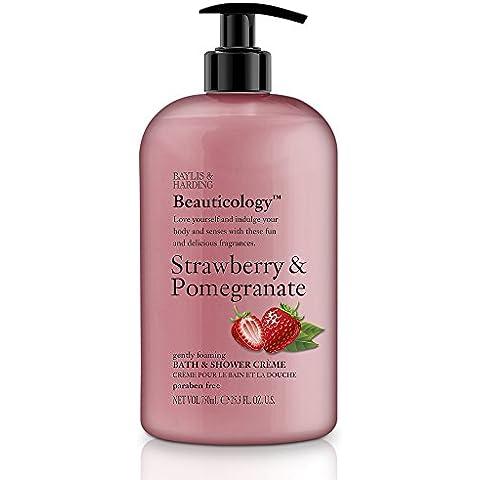 Baylis y Harding PLC Beauticology granada fresa y crema de baño / ducha 500 ml
