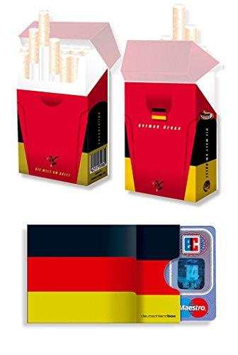 EM-SET Motiv: DEUTSCHLAND FAHNE/FLAGGE - 1x cardbox (Kartenhülle, Ausweishülle, Führerscheinhülle) UND 1x indo slipp (Hülle für Zigarettenschachteln) im SET ||| Fußball Fanartikel