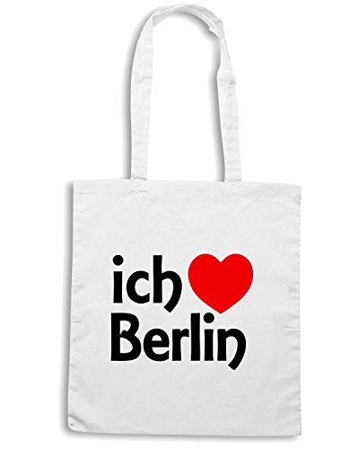 T-Shirtshock - Borsa Shopping TLOVE0001 berlin Bianco