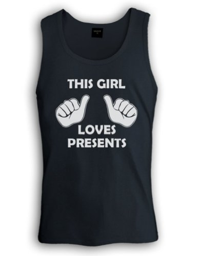 This Girl Loves Presents Tank Top Schwarz