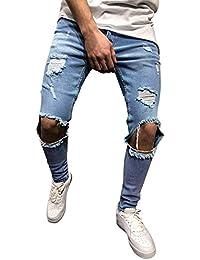 SALLYDREAM - Vaqueros Pantalones Slim para Hombre 936d257e051