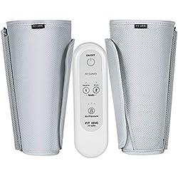 FIT KING Appareil De Massage Électrique Pour Jambes Circulation Et Massage Pieds Avec Contrôleur Portatif 2 Modes 3 Intensités (Gris Mini)