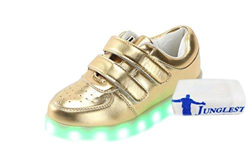 [Presente:piccolo asciugamano]JUNGLEST® 11 colori led luminoso-Scarpe da ginnastica Unisex, in stile Casual, per scarpe-Coppia di luci led, c10