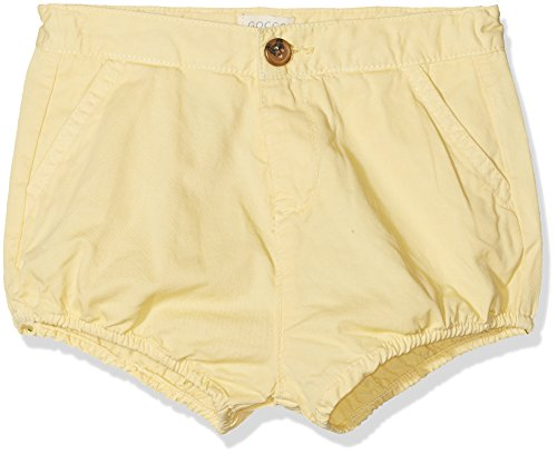 Gocco S86PSTCA202, Pantalones para Bebés, Amarillo, 80 (Tamaño del Fabricante:SM)