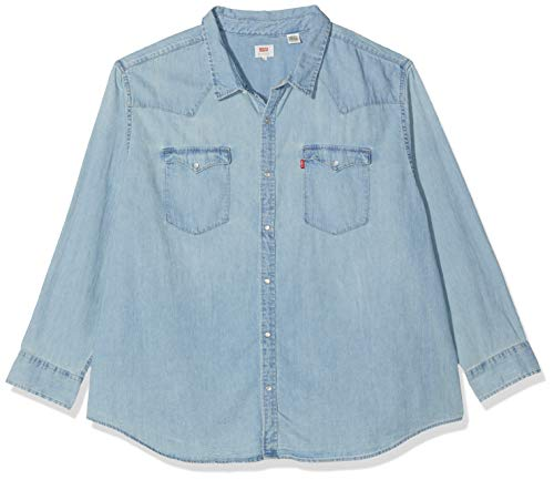 Levi's big classic western camicia in jeans, blu (red cast stone wash takedown h2 19 0007), xxxx-large uomo