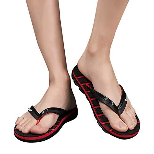2268b858f7b Sandalias Mujeres Cebbay Moda Plano Talla Grande Bohemia Sandalias Casuales  Zapatos de Playa Sandalias Romanas Chanclas