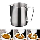 Yizhet 350ml/12 oz in Acciaio Inox Latte Brocca Schiuma Bricco da Lattiera per Cappuccino in Acciaio Inox caffè Latte Art Bilance