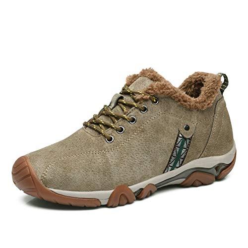 AIFXZ Uomini Escursionismo Allenatore All'aperto Sport Trekking Scarpe da Passeggio Sneaker ad Acqua Maglia Alta Estate Leggero, Khaki plush-43