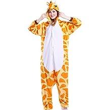 Tuopuda Kigurumi Pijamas Unisexo Adulto Traje Disfraz Adulto Animal Pyjamas Cosplay Animales de Vestuario Ropa de dormir Halloween y Navidad