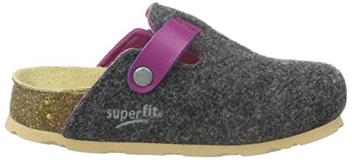Superfit FUSSBETTPANTOFFEL 700112, Mädchen Pantoffeln, Grau (STONE KOMBI 06) Grau (STONE KOMBI 06)