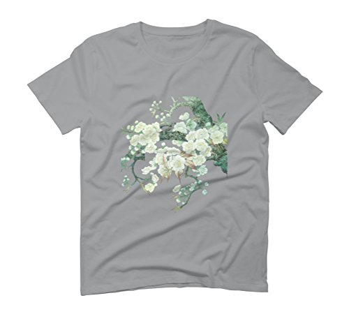 Blooming Peach Blossoms Men's Graphic T-Shirt - Design By Humans Opal