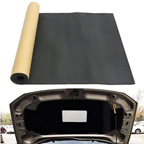 Auto-Auspuffschalldämpfer Dämmung Schaumstoff 200 x 100 cm Auto Motorhaube Selbstklebende Matte feuerhemmend gegen Reibung